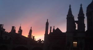 Kings College silhouette