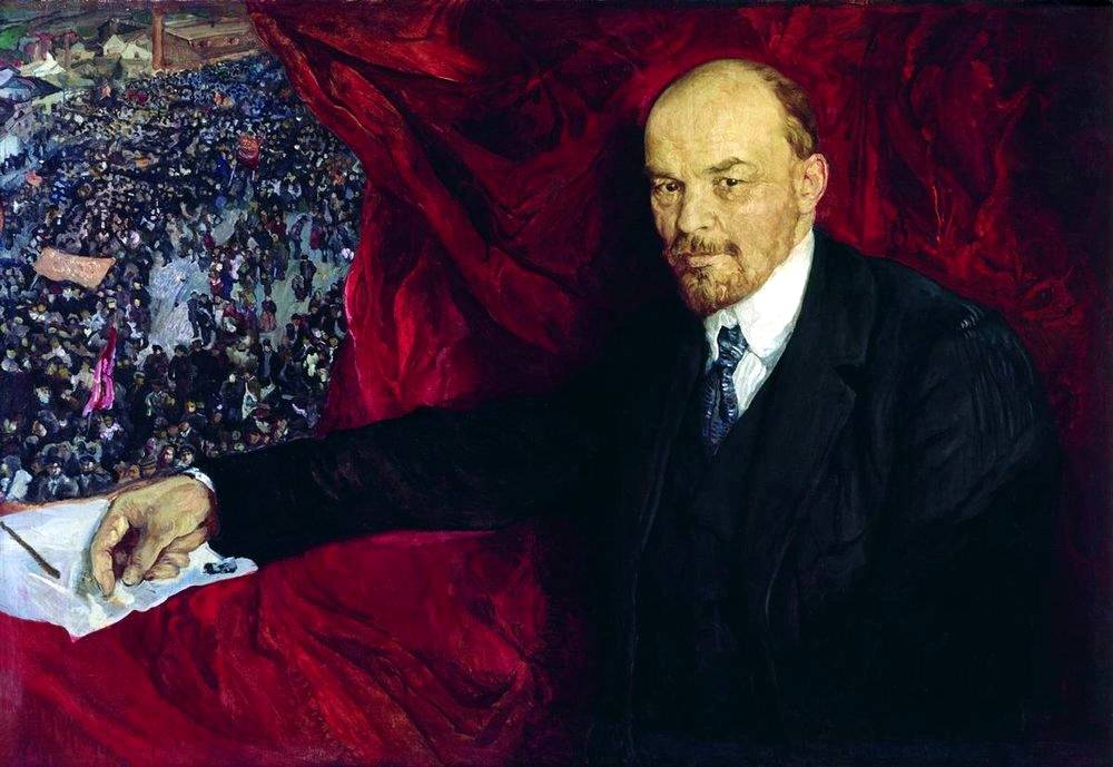 Lenin and manifistation by Isaak Brodsky ,1919