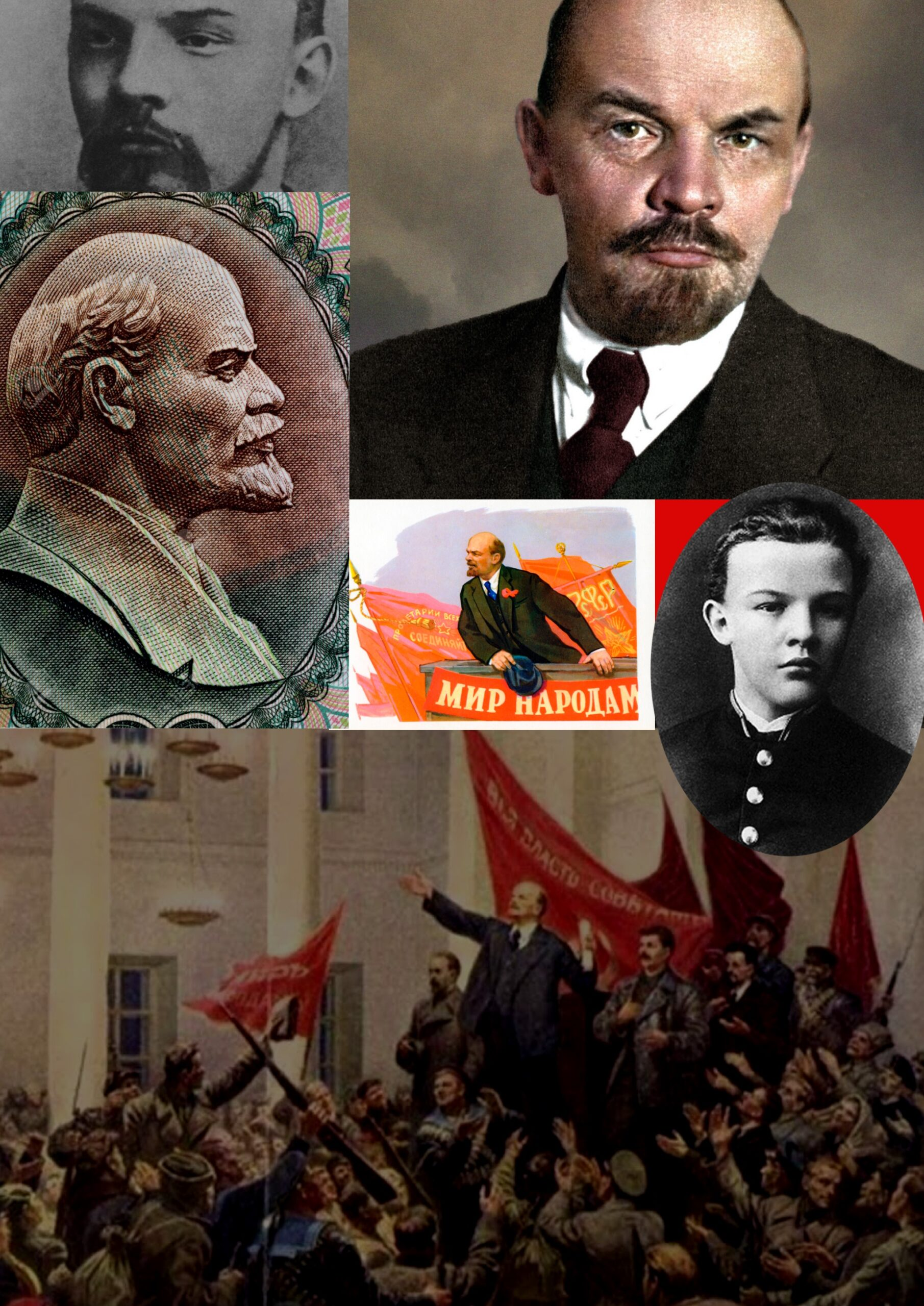 Lenin. Collage by Timur Alexander